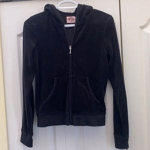 Juicy Couture black front zipper black hoodie
